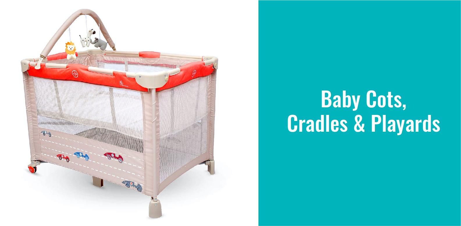 Baby Cots, Cradles & Playards